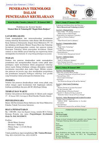 Seminar dan Pameran ( 2 Hari )