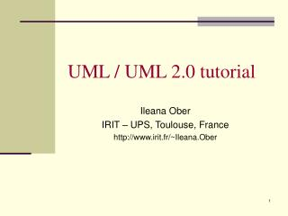 UML / UML 2.0 tutorial