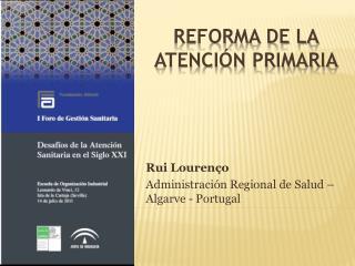 reforma de la atención primaria