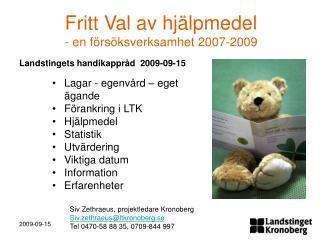 Landstingets handikappråd  2009-09-15