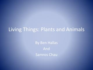 Living Things:  Plants and Animals