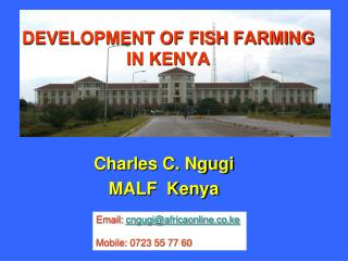 DEVELOPMENT OF FISH FARMING IN KENYA