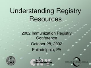 Understanding Registry Resources