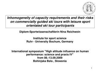 Diplom-Sportwissenschaftlerin Nina Reichwein Institute for sport science
