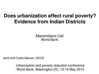 Does urbanization affect rural poverty? Evidence from Indian Districts