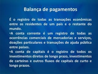 Balança de pagamentos