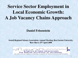 Service Sector Employment in Local Economic Growth:  A Job Vacancy Chains Approach