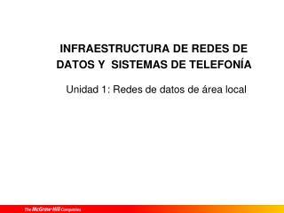 INFRAESTRUCTURA DE REDES DE DATOS Y  SISTEMAS DE TELEFONÍA