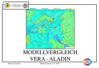 MODELLVERGLEICH VERA - ALADIN
