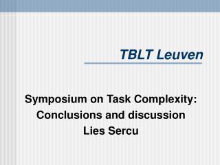 TBLT Leuven