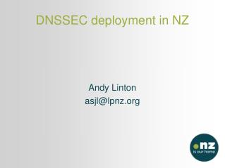 DNSSEC deployment in NZ