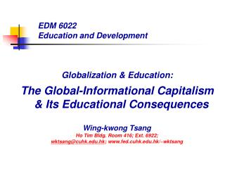 EDM 6022 Education and Development