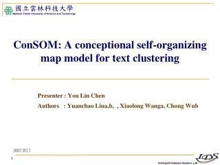 ConSOM: A conceptional self-organizing map model for text clustering