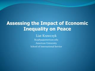 Liat Krawczyk lk2985a@american American University School of International Service