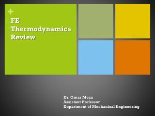 FE Thermodynamics Review