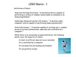 LEGO Basics - 1