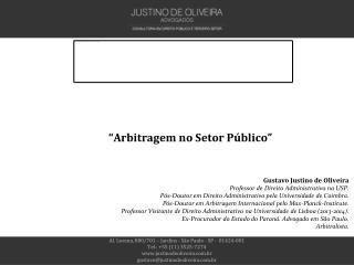 """""""Arbitragem no Setor Público"""""""