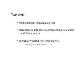 Wavelets: