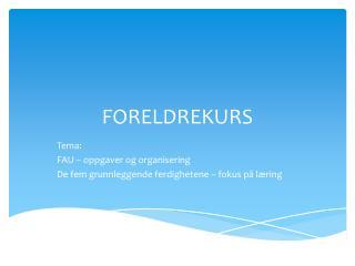 FORELDREKURS