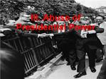 III. Abuse of Presidential Power