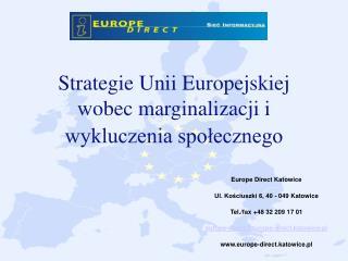 Strategie Unii Europejskiej wobec marginalizacji i wykluczenia społecznego
