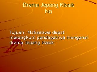 Drama Jepang Klasik No