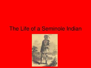 The Life of a Seminole Indian