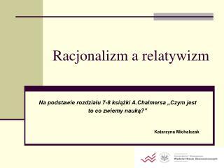 Racjonalizm a relatywizm