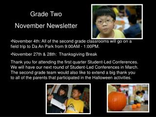 Grade Two November Newsletter