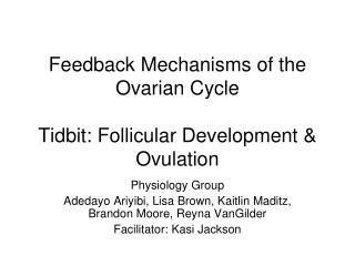 Feedback Mechanisms of the Ovarian Cycle Tidbit: Follicular Development & Ovulation