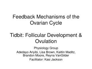 Feedback Mechanisms of the Ovarian Cycle Tidbit: Follicular Development & Ovulation