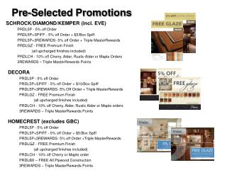 Pre-Selected Promotions
