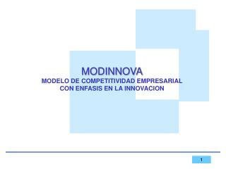 MODINNOVA MODELO DE COMPETITIVIDAD EMPRESARIAL CON ENFASIS EN LA INNOVACION