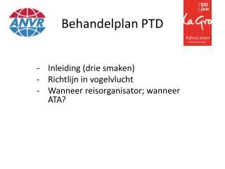 Behandelplan PTD