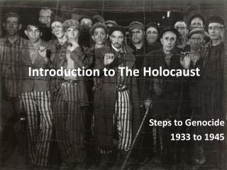 Introduction to The Holocaust