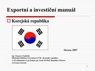 Exportní a investiční manuál