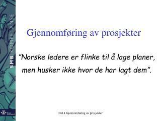 """""""Norske ledere er flinke til å lage planer,  men husker ikke hvor de har lagt dem""""."""