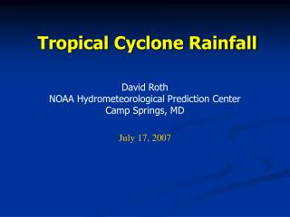 Tropical Cyclone Rainfall