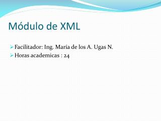 Módulo de XML