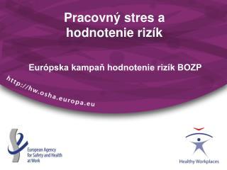 Pracovný stres a  hodnotenie rizík