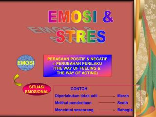 EMOSI & STRES