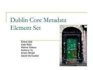 Dublin Core Metadata Element Set
