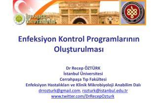 Enfeksiyon Kontrol Programlarının Oluşturulması