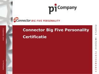 Connector Big Five Personality Certificatie
