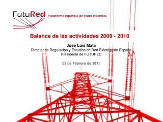 Balance de las actividades 2009 - 2010