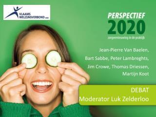 DEBAT Moderator Luk Zelderloo