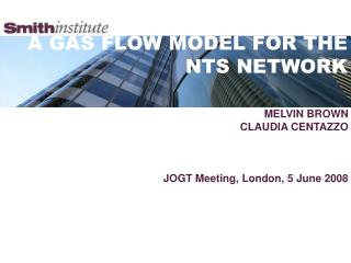 A GAS FLOW MODEL FOR THE NTS NETWORK