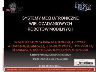 Katedra Podstaw Konstrukcji Maszyn Politechnika Śląska w Gliwicach