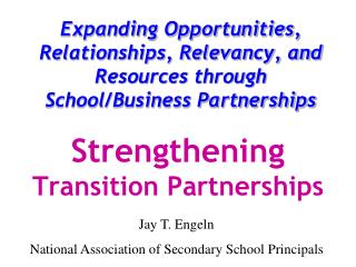 Strengthening  Transition Partnerships
