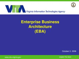 Enterprise Business Architecture  (EBA)